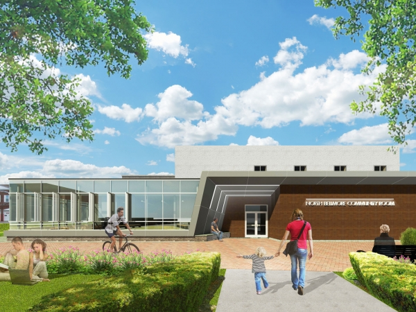 North Bellmore Library east render